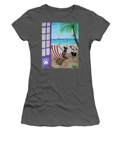 My 3 By The Sea Women's T-Shirt (Athletic Fit)