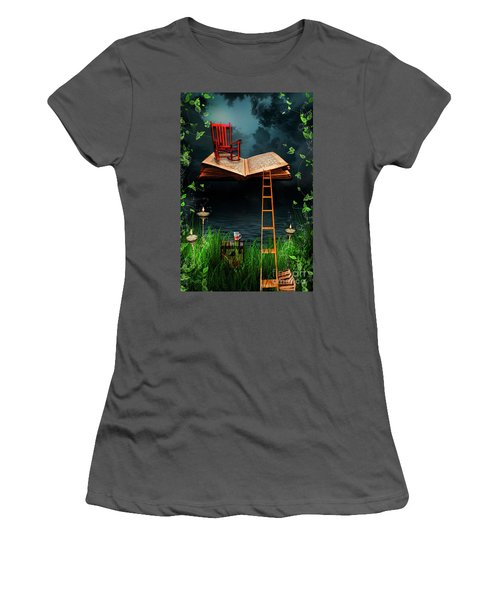 My Book Said Come Fly With Me Women's T-Shirt (Athletic Fit)