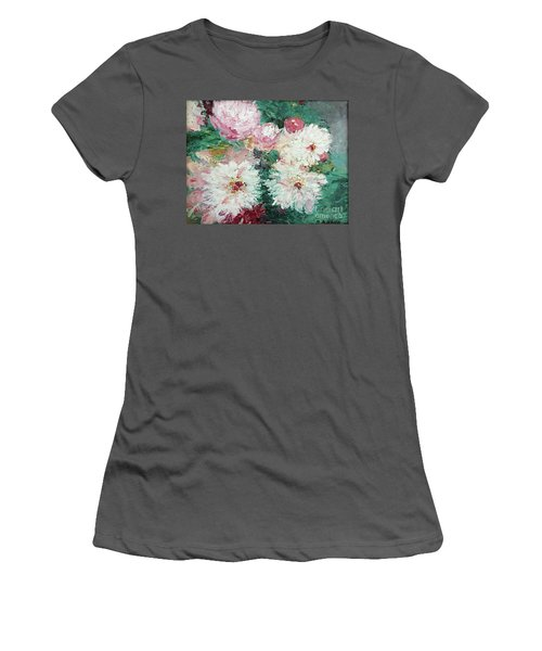 My Chrysanthemums Women's T-Shirt (Junior Cut) by Barbara Anna Knauf