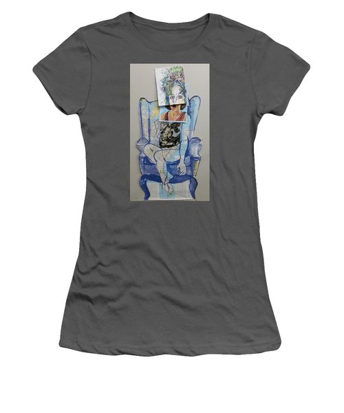 Women's T-Shirt (Junior Cut) featuring the painting My Foot Is In Miami by Tilly Strauss