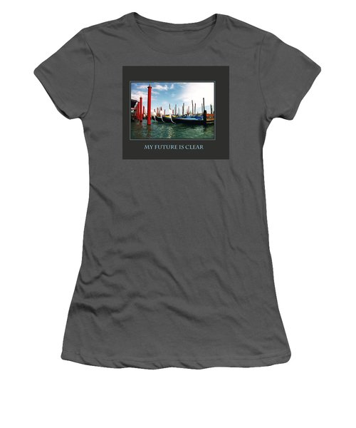 Women's T-Shirt (Junior Cut) featuring the photograph My Future Is Clear by Donna Corless