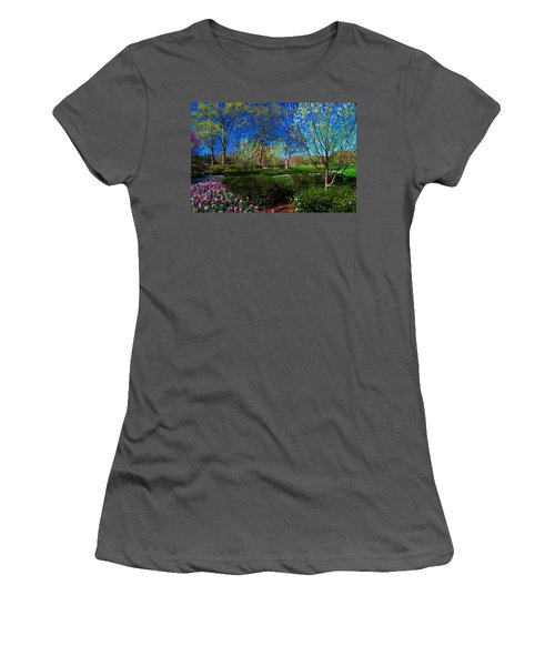 My Garden In Spring Women's T-Shirt (Athletic Fit)