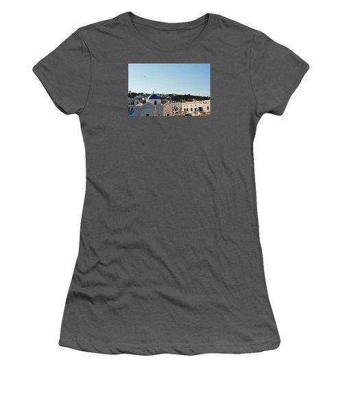 Mykonos Sunrise Women's T-Shirt (Junior Cut) by Robert Moss