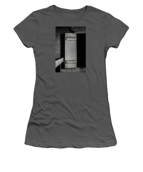 Mysterious Attic Door  Women's T-Shirt (Junior Cut) by Off The Beaten Path Photography - Andrew Alexander