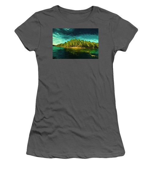 Mysterious Isle Women's T-Shirt (Athletic Fit)