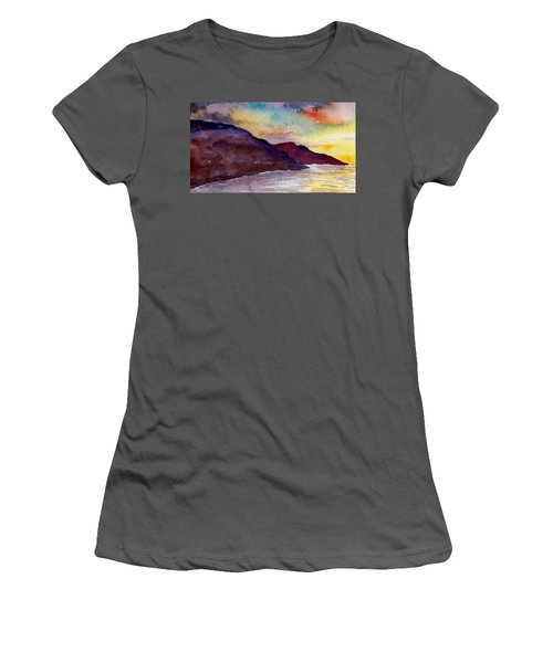 Napali Coast Kauai Hawaii Women's T-Shirt (Athletic Fit)