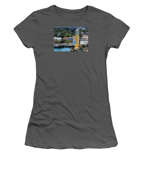 Women's T-Shirt (Junior Cut) featuring the photograph Nassau Bahamas by Coby Cooper