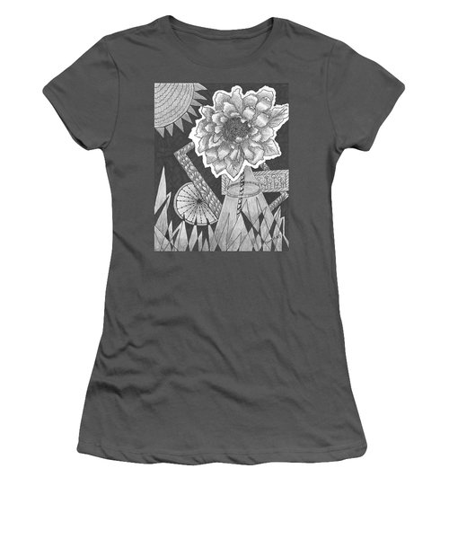 Naturemade And Manmade Shapes Women's T-Shirt (Junior Cut) by Quwatha Valentine