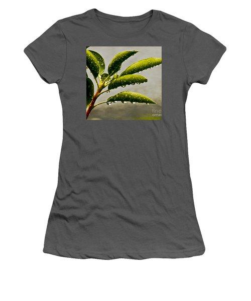 Early Morning Raindrops Women's T-Shirt (Junior Cut) by Carol F Austin