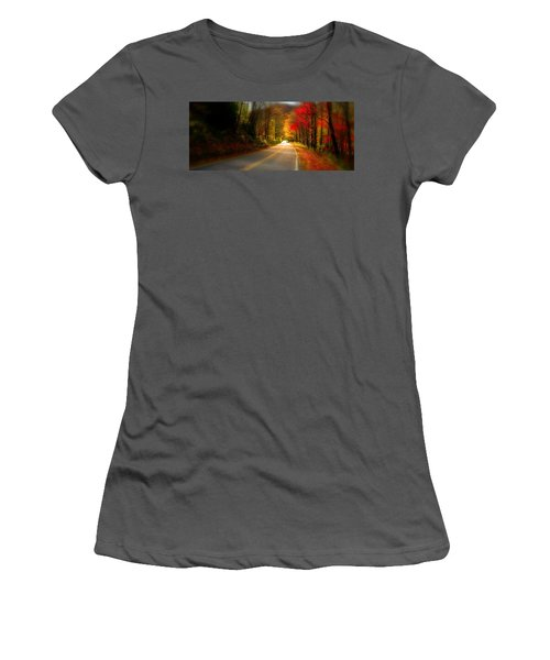 Nc Mountain Fall Drive Women's T-Shirt (Athletic Fit)
