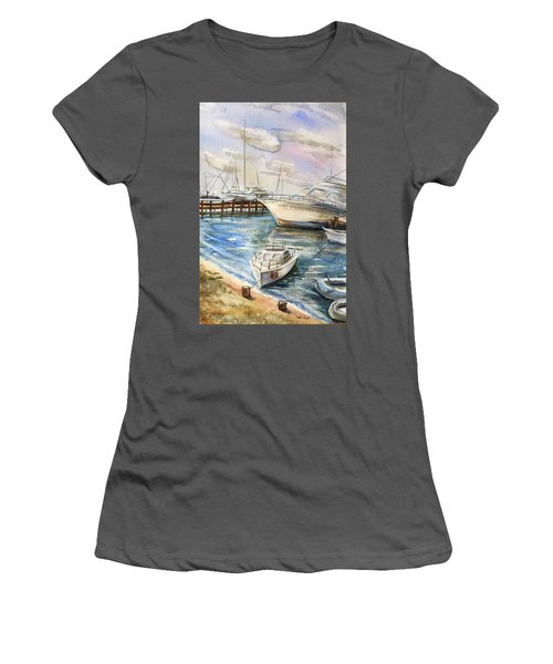 Near The Harbour 2 Women's T-Shirt (Athletic Fit)