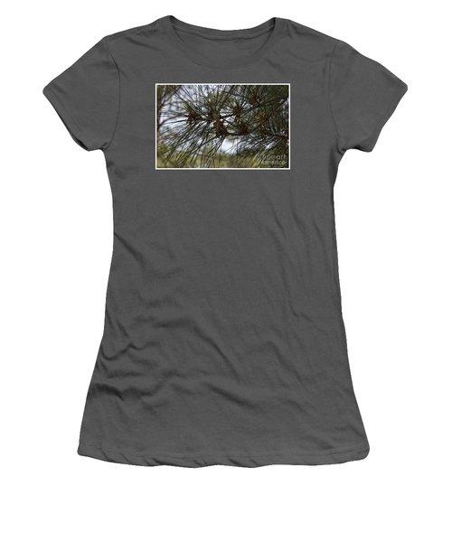 Needles Attached Women's T-Shirt (Junior Cut) by Roberta Byram
