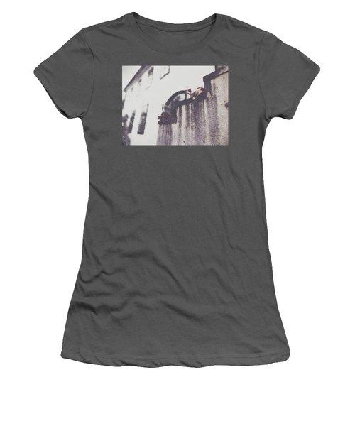 Neighbors Cats Women's T-Shirt (Junior Cut) by Siegfried Ferlin