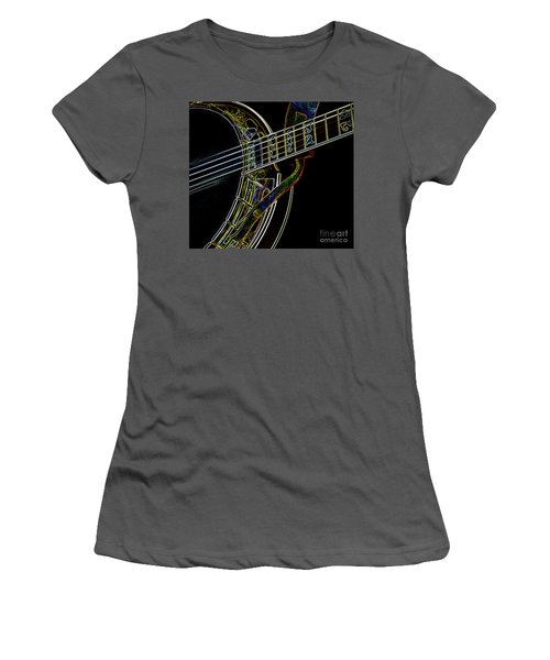 Women's T-Shirt (Junior Cut) featuring the photograph Neon Banjo  by Wilma Birdwell
