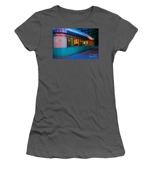 Neon Diner Women's T-Shirt (Athletic Fit)