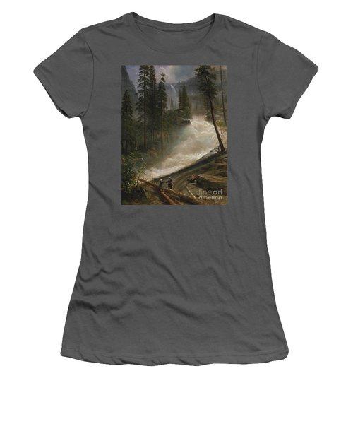Women's T-Shirt (Junior Cut) featuring the photograph Nevada Falls Yosemite                                by John Stephens