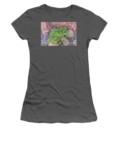 Women's T-Shirt (Junior Cut) featuring the photograph Nevada Yellow Wildflower by Linda Phelps