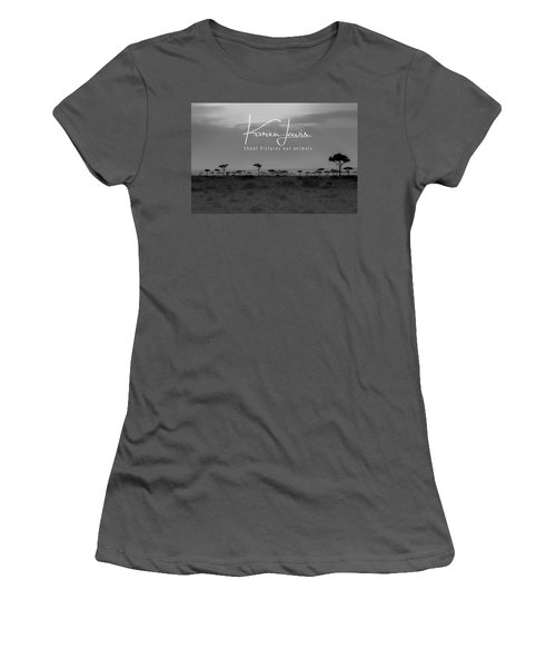 Women's T-Shirt (Junior Cut) featuring the photograph New Day On The Mara by Karen Lewis