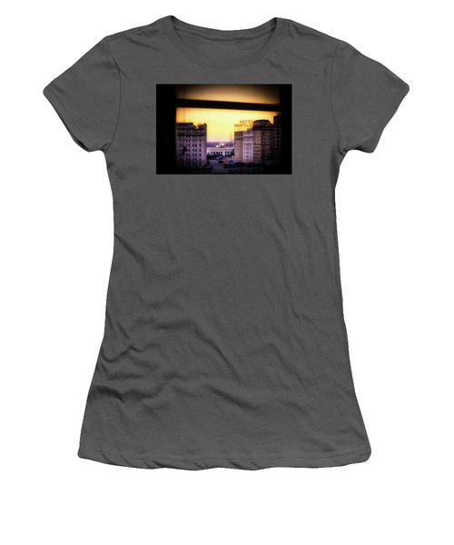 New Orleans Window Sunrise Women's T-Shirt (Athletic Fit)