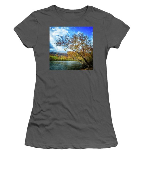 New River In Fall Women's T-Shirt (Athletic Fit)