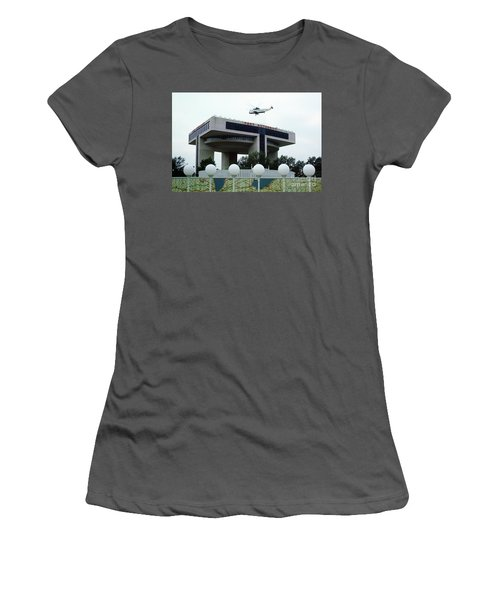 New York City Port Authority Helicopter Pad, New York World's Fa Women's T-Shirt (Athletic Fit)