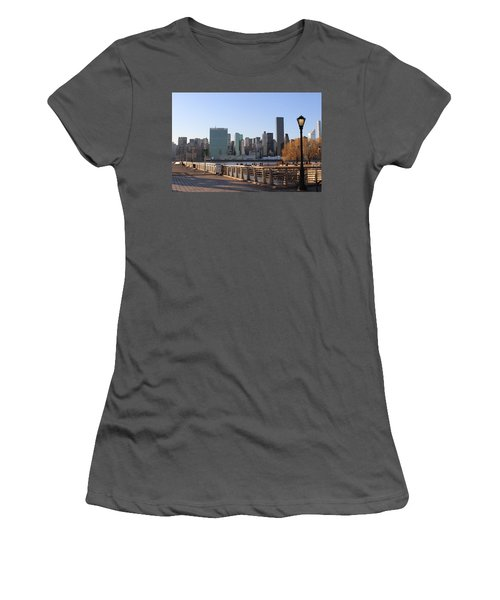 New York's Skyline - A View From Gantry Plaza State Park Women's T-Shirt (Athletic Fit)