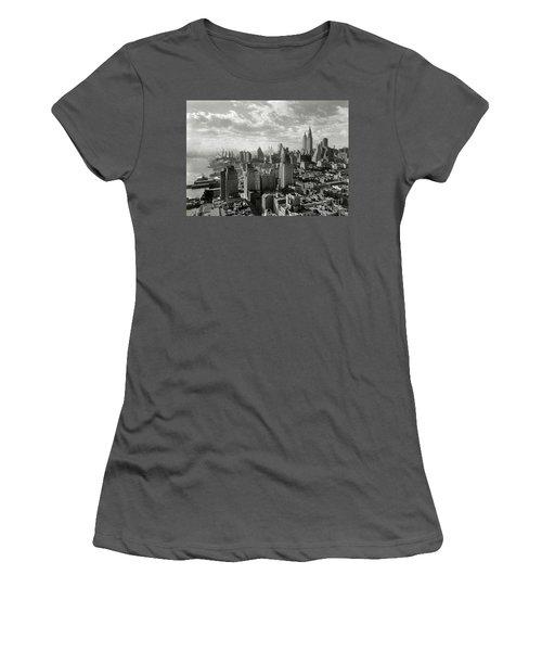 New Your City Skyline Women's T-Shirt (Junior Cut) by Jon Neidert