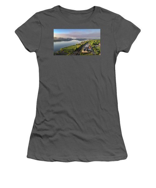 Newburgh Waterfront Looking South 2 Women's T-Shirt (Athletic Fit)
