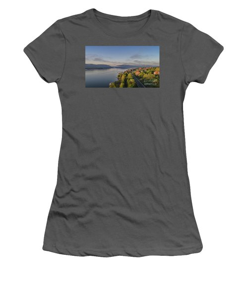Newburgh Waterfront Looking South Women's T-Shirt (Athletic Fit)
