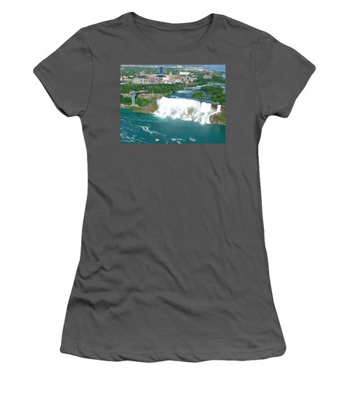 Niagara American And Bridal Veil Falls  Women's T-Shirt (Athletic Fit)