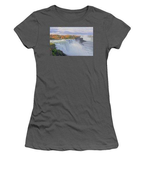 Niagara Falls In Autumn Women's T-Shirt (Athletic Fit)