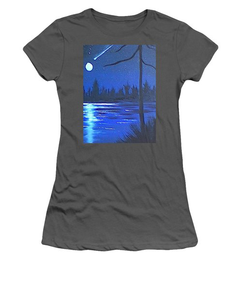 Night Scene Women's T-Shirt (Athletic Fit)