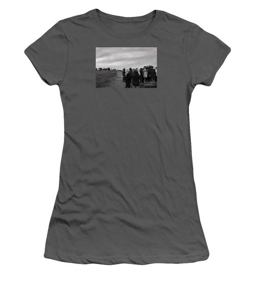 Women's T-Shirt (Junior Cut) featuring the photograph Night Vision Ghost Story In Bradgate Park. by Linsey Williams
