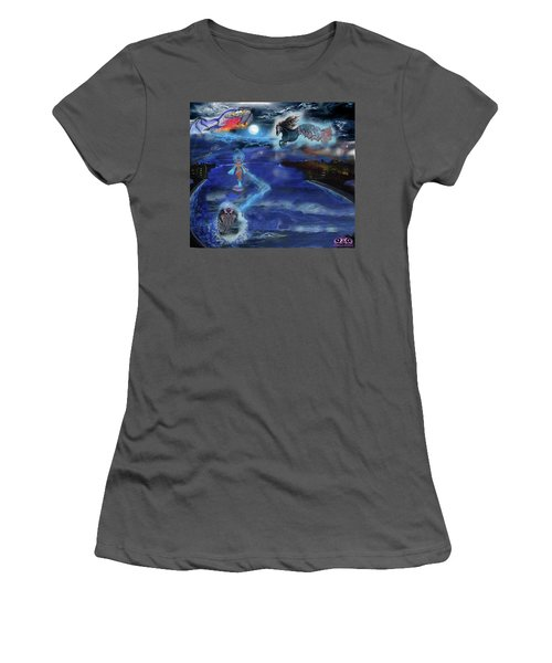 Night Walk Women's T-Shirt (Athletic Fit)