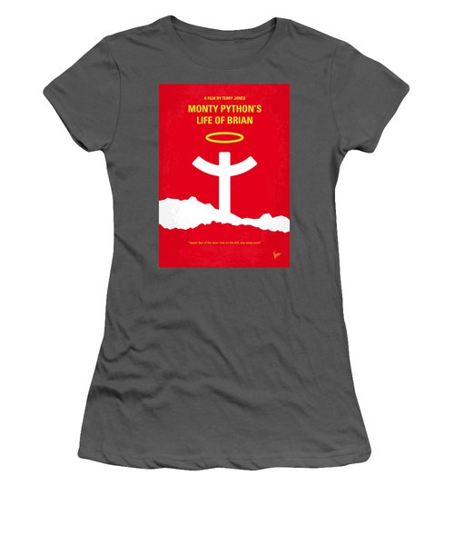 No182 My Monty Python Life Of Brian Minimal Movie Poster Women's T-Shirt (Athletic Fit)