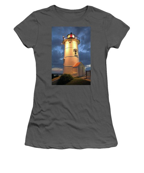 Nobska Point Lighthouse Women's T-Shirt (Junior Cut) by Roupen  Baker