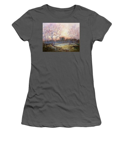 Nocturnal Landscape Women's T-Shirt (Junior Cut) by Irek Szelag