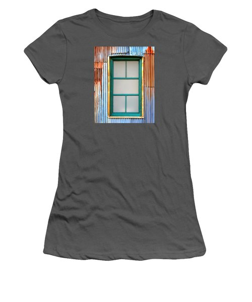 Women's T-Shirt (Junior Cut) featuring the photograph Nonwindow Surrounded By Color by Gary Slawsky