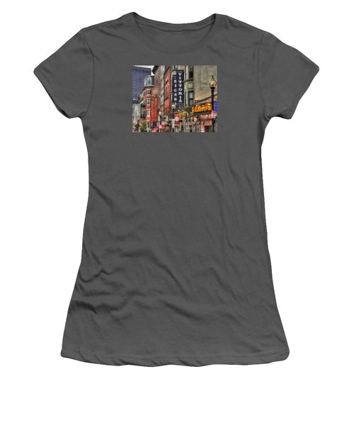 North End Charm 11x14 Women's T-Shirt (Junior Cut) by Joann Vitali