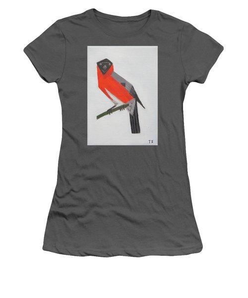 Northern Bullfinch Women's T-Shirt (Junior Cut) by Tamara Savchenko