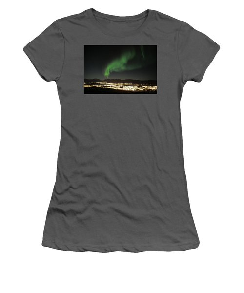 Northern Light In Troms, North Of Norway Women's T-Shirt (Athletic Fit)