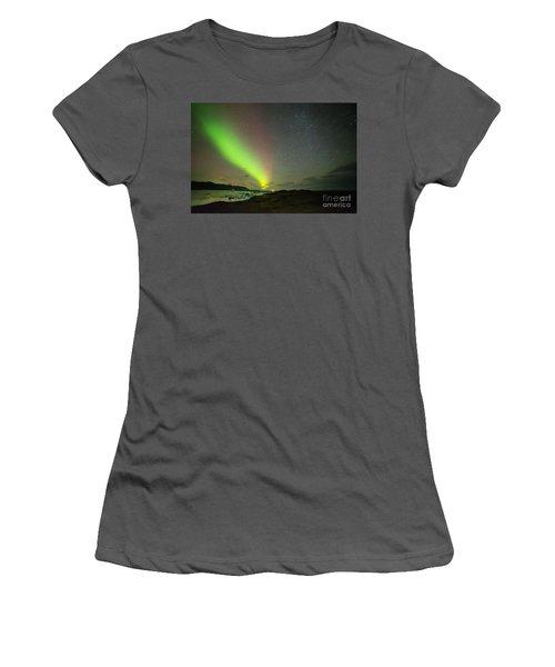 Women's T-Shirt (Junior Cut) featuring the photograph Northern Lights 7 by Mariusz Czajkowski
