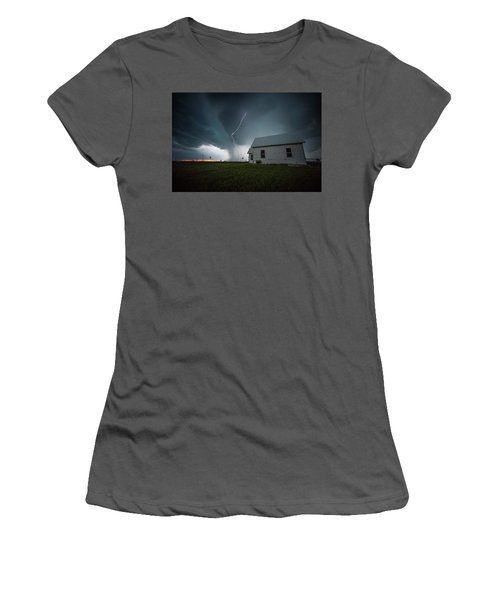 Women's T-Shirt (Athletic Fit) featuring the photograph Nowhere To Run by Aaron J Groen