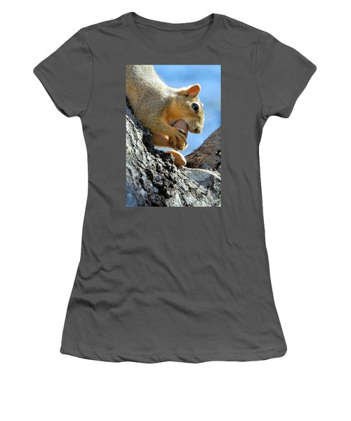 Women's T-Shirt (Junior Cut) featuring the photograph Nutjob by Debbie Karnes