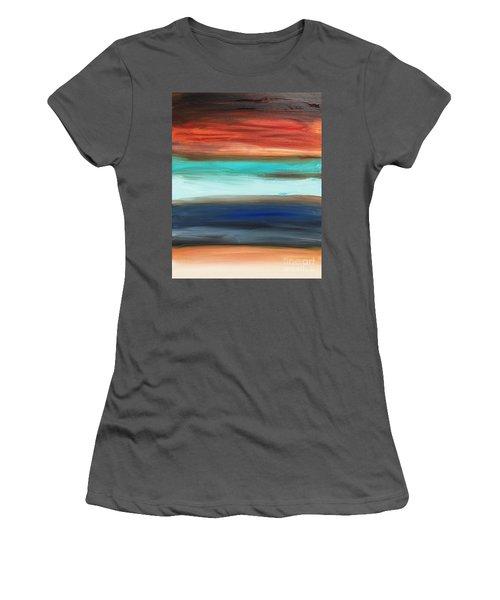 Oak Creek #28 Southwest Landscape Original Fine Art Acrylic On Canvas Women's T-Shirt (Athletic Fit)