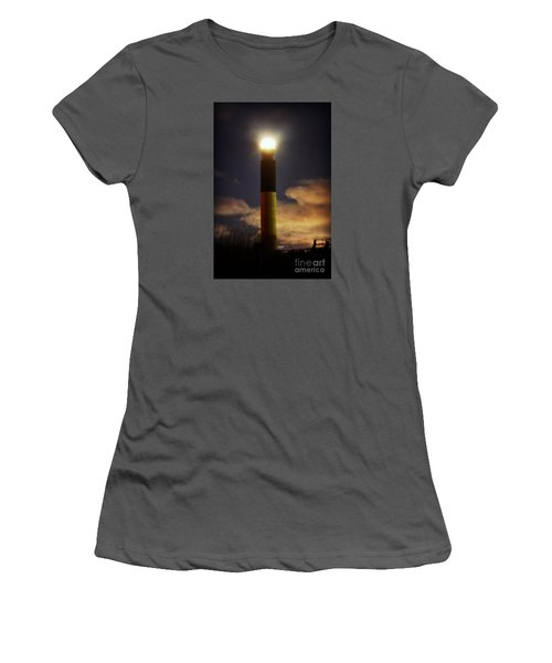 Oak Island Lighthouse Women's T-Shirt (Junior Cut) by Kelly Nowak