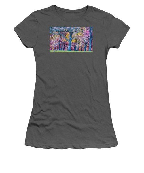 Oak Trees At Fall Women's T-Shirt (Athletic Fit)