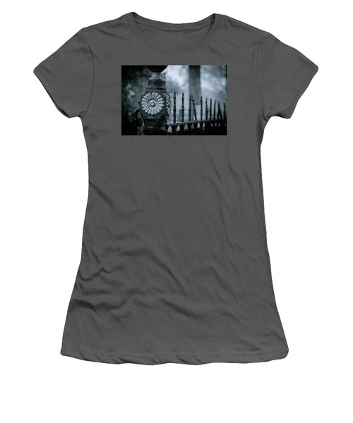 Women's T-Shirt (Junior Cut) featuring the photograph Oakwood Cemetery by Linda Unger