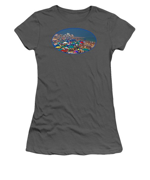 Ocean City Beach Fun Zone Women's T-Shirt (Athletic Fit)
