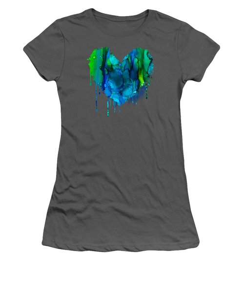 Women's T-Shirt (Junior Cut) featuring the painting Ocean Depths by Nikki Marie Smith